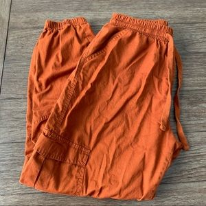 Iris rusty orange cargo pants